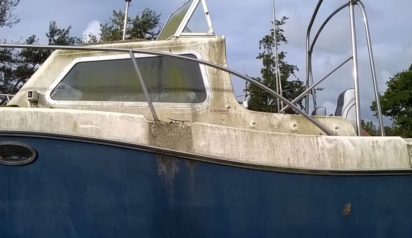 Boat Cleaning BEFORE